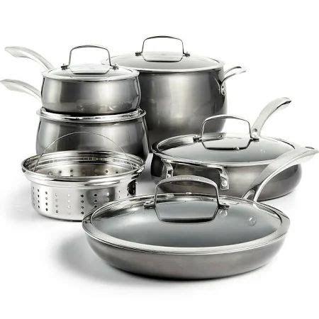 belgique hard anodized  piece cookware set google shopping cookware set nonstick cookware