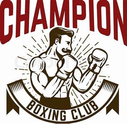 Boxing Champion Boxer Fighter Emblem Element Colourbox