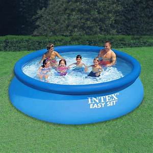 Intex Easy Set 12 Ft  Round X 30 In  Deep Inflatable Pool