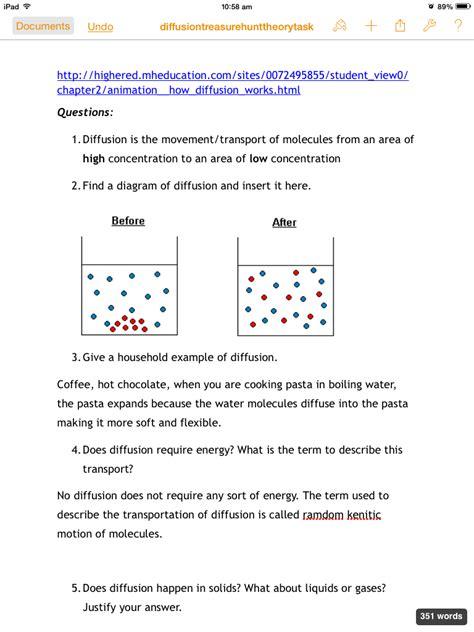 solute  solvent worksheets