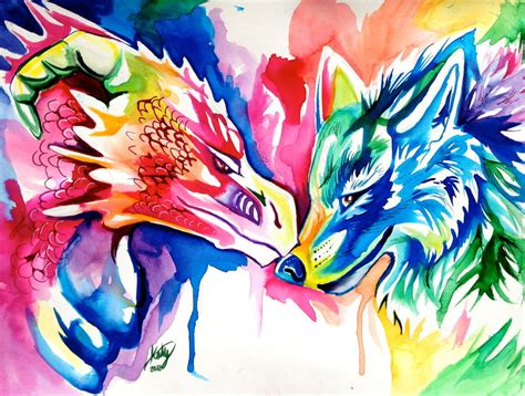 Anime Rainbow Wolf Wallpaper by Rainbow Wolf And By Lucky978 On Deviantart