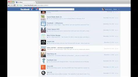 How to Access Your Hidden Facebook Inbox - YouTube
