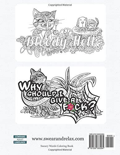 angry swearing cats creative sweary coloring book