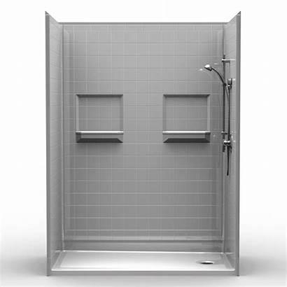 Shower 60 Drain Walk Piece Threshold End