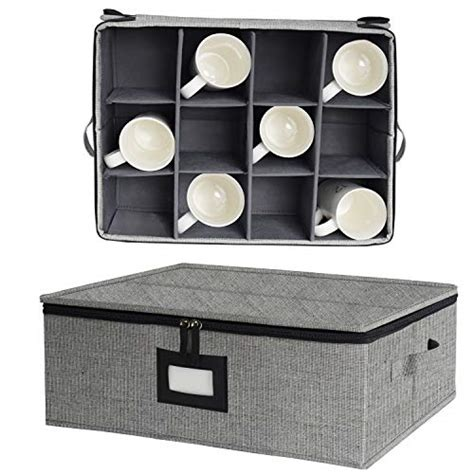 Are you a crazy coffee cup lady like me? China Cup Storage Chest, Mug Storage Box with Lid and Handles, Holds 12 Coffee M | eBay