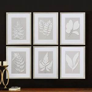 moonlight ferns silver framed wall collage uttermost 41394 With home wall art