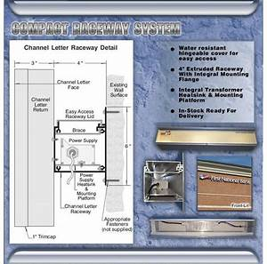 channel letters raceway system With channel letter raceway