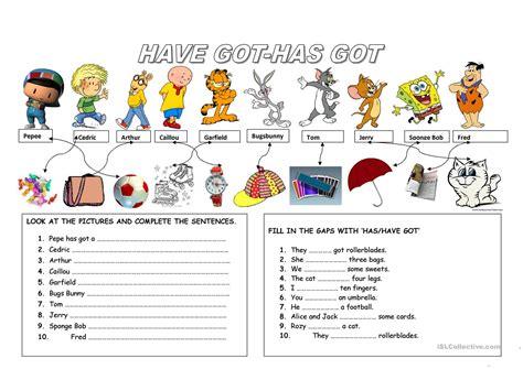havehas  worksheet  esl printable worksheets