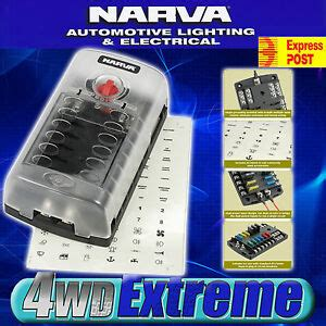 Car Fuse Box Nz by Narva 12 Way Fuse Block Box Holder Ats Blade Caravan Dual
