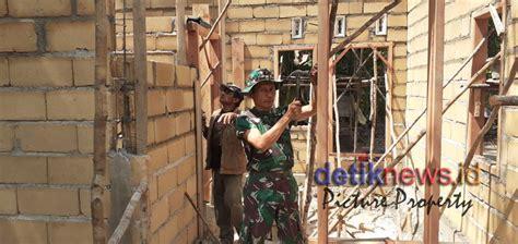 ibu rupiah gembira melihat pembangunan rumah rtlh oleh