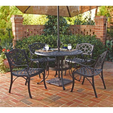 outdoor furniture tables only shop home styles biscayne 5 piece black aluminum patio