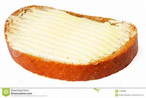 Bread And Butter Over White Stock Photo - Image: 11582988