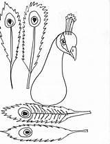 Peacock Coloring Feather Worksheets Printablee Via sketch template