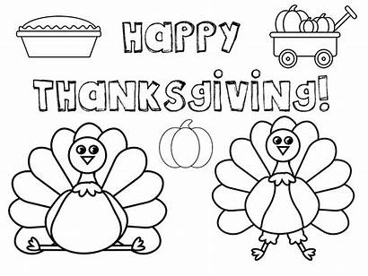 Thanksgiving Coloring Pages Placemat Printable Place Printables