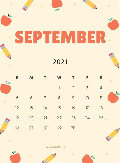 Calendar 2021 September Cute