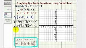 Ex  Graph A Quadratic Function In General Form  Online
