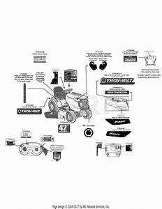 Troy Bilt 13wn77ks011 Pony  2012  Parts Diagram For Label Map