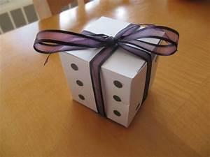 Our las vegas themed wedding favors weddingbee diy for Box invitations weddingbee