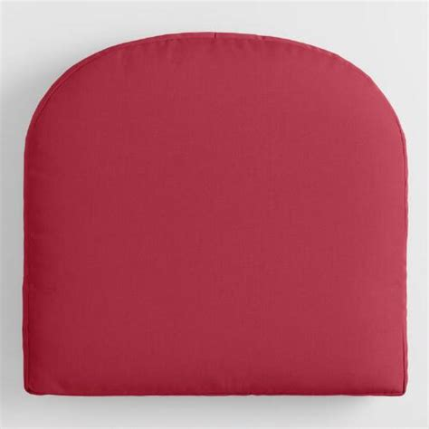 sunbrella blush pink canvas gusseted outdoor chair cushion