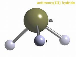 WebElements Periodic Table » Antimony » antimony trihydride