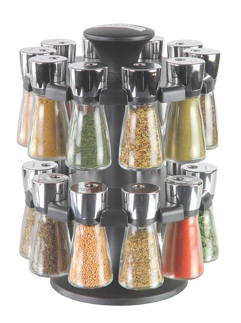 Filled Spice Racks by Cole Hudson 20 Jar Filled Carousel Herb And Spice
