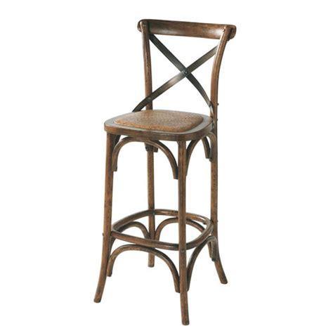 chaise de bar rotin chaise de bar en rotin et chêne effet vieilli tradition