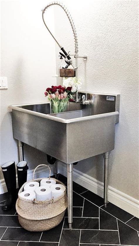 Sinks For Laundry Room - laundry room with stainless steel utility sink