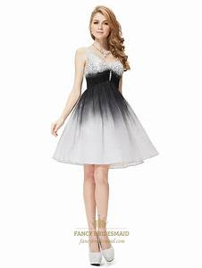 Black And White Cocktail Dress For Prom Night,Black And ...