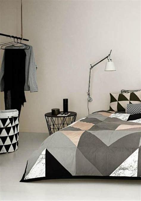 creating modern bedroom decor  geometric bedding sets