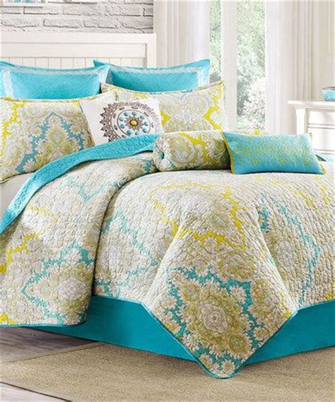 Yellow Quilted Coverlet by Turquoise Yellow Paisley Quilted Reversible Coverlet
