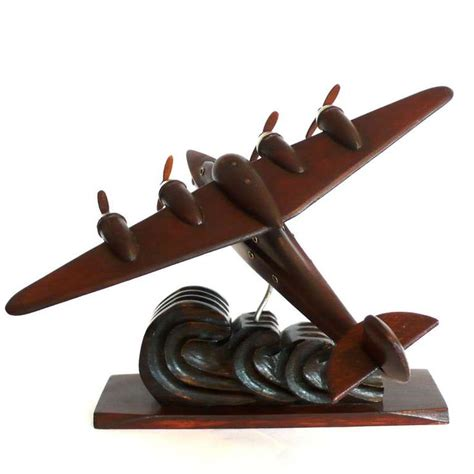 french art deco airplane model aviation collectables