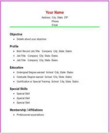 basic resume sles download creating a basic resume structure