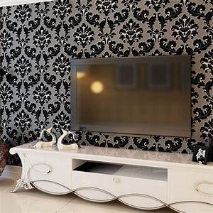 Black And White Wallpaper Room #8487