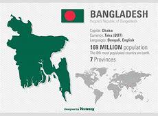 Vector Illustration Of Bangladesh's Location And World Map
