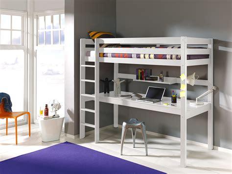 lit mezzanine fille avec bureau lit mezzanine 1 place avec bureau clara en pin massif so
