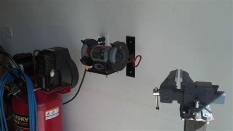 bench grinder mount  garage journal board bench