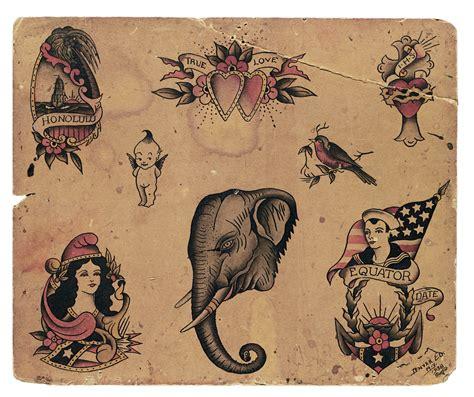 Vintage Tattoo Flash 100 Years Of Traditional Tattoos