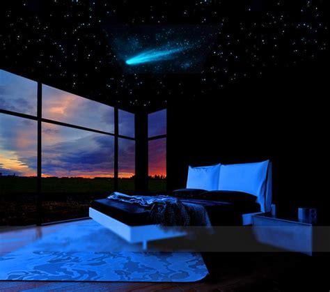 comet  stars glow   dark ceiling mural