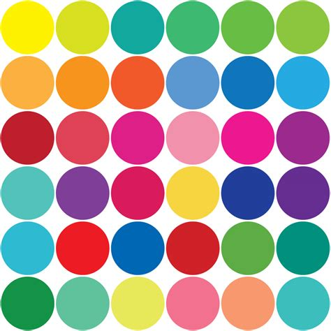 color dots rainbow polka dot wallpaper clipart best