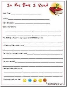 Printable 3rd Grade Book Report Template