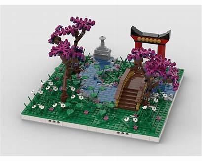 Moc Garden Chinese Diorama Lego Mocs Rebrickable