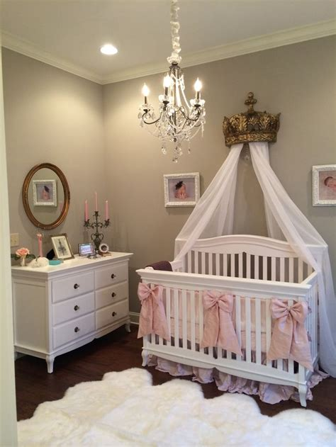baby nursery decor white curtain chandelier for baby