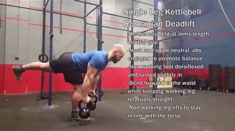 deadlift kettlebell leg single romanian
