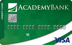 The atm everyday debit mastercard is instantly issued upon account opening. Academy Bank Credit Builder Secured Visa Credit Card ...