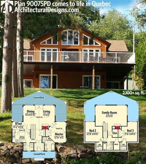 Plan 90075PD: For the Sloping Lot Cottage house plans