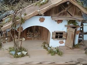 Haus Aus Holz : modellhaus grosses holzhaus krippe 55cm holzhaus krippe meiner meinung nach krippen bausatz ~ Buech-reservation.com Haus und Dekorationen