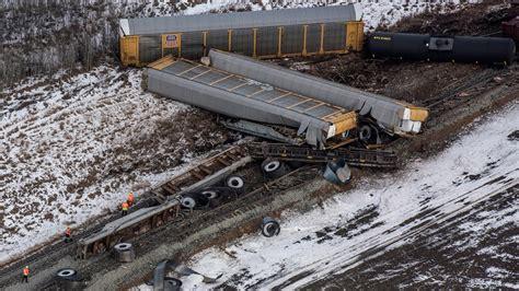 Cn Freight Train Derails In Central Saskatchewan