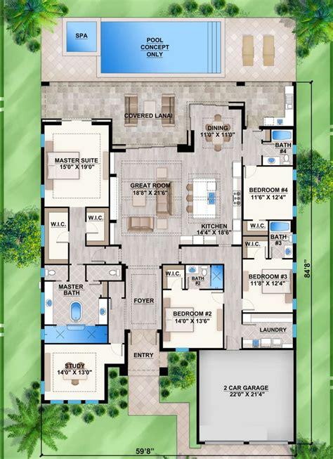 House Plan 207 00073 Coastal Plan: 3 289 Square Feet 4