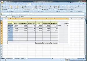 The Automated Spreadsheet Using Excel