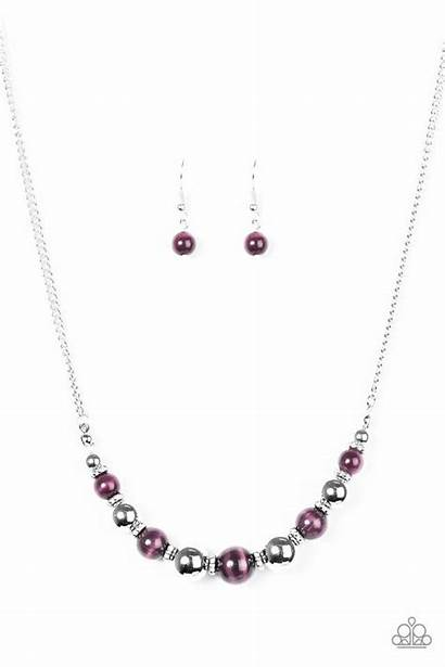 Glass Paparazzi Necklace Upper Purple Paparazziaccessories Jewelry